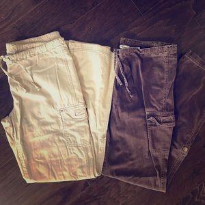Lot of 2 Pair Columbia Cargo Hiking Pants
